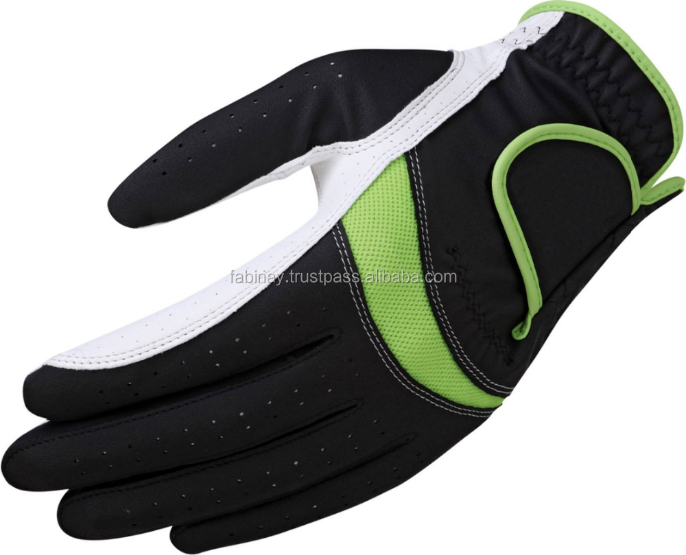 Golf gloves with mesh details