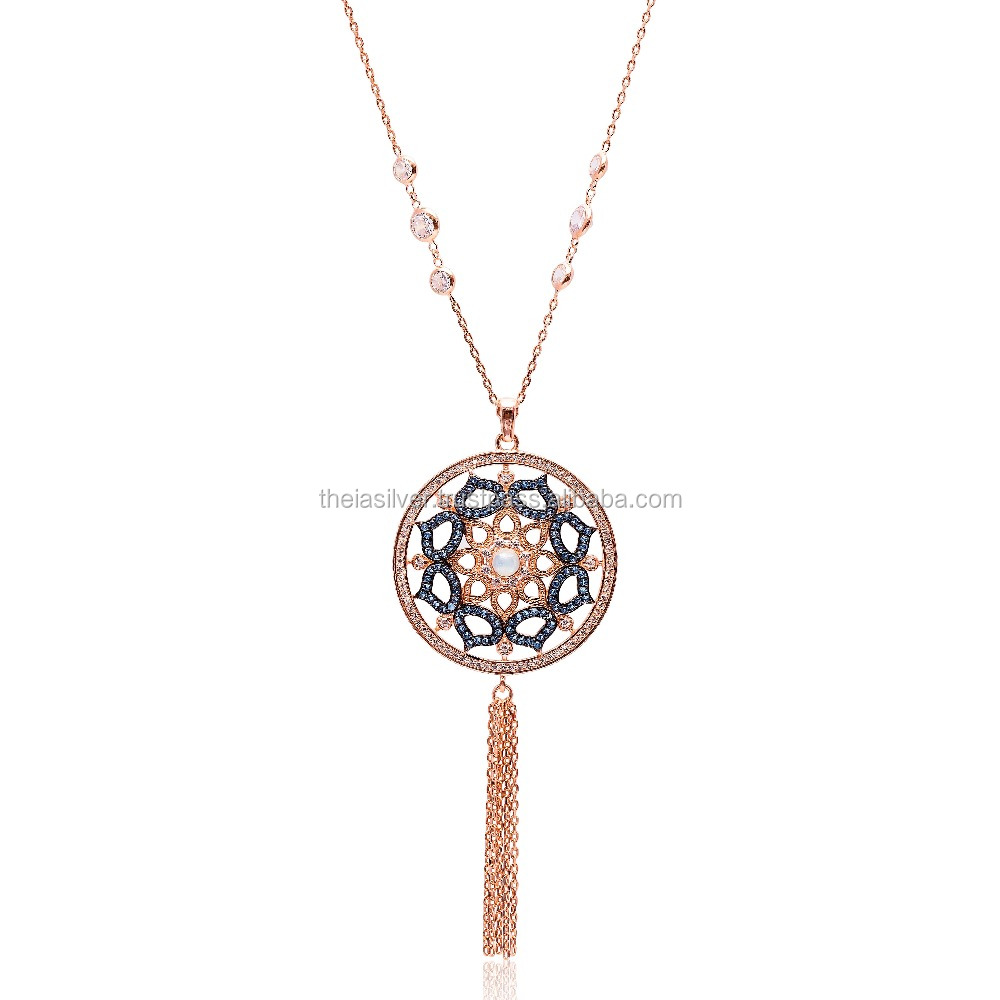 Opal and Sapphire Rose Gold Plated,925 Sterling Silver, Handmade JewelryTurkish Design