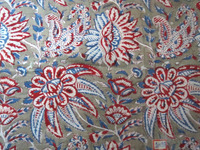 Block Printed Natural Dye Fabric Sanganeri Cotton Handmade Fabric Craft Sewing Dress Material 100% cotton clothing
