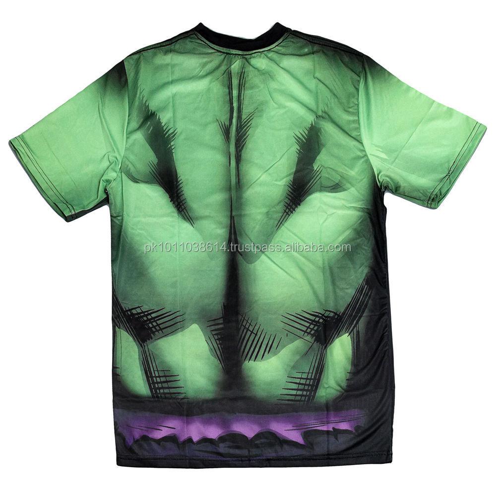 Shirt design of 2014 - 2014 New Hulk Design Sublimation T Shirt