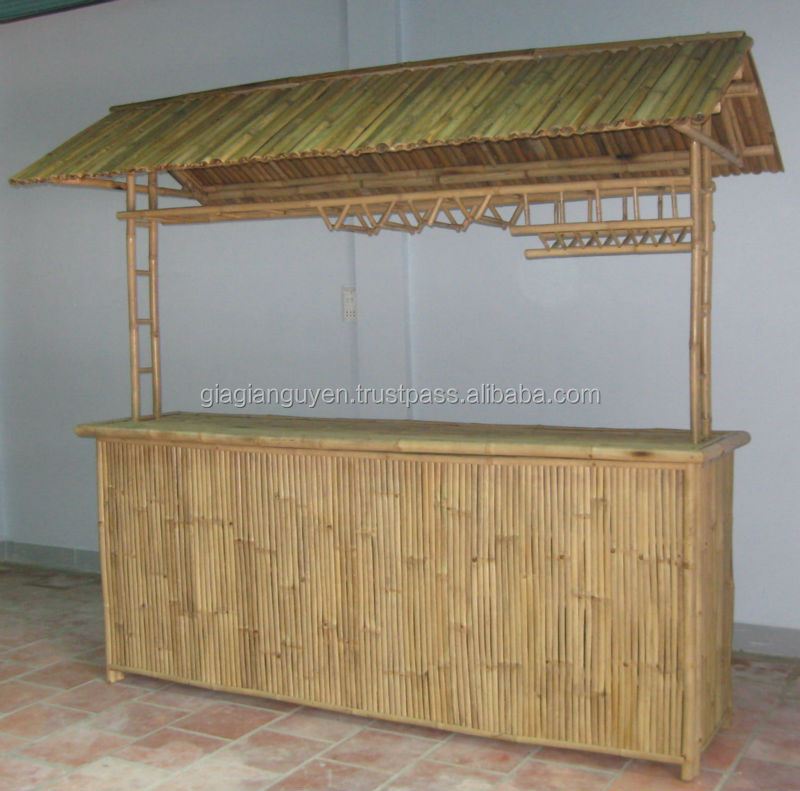 Vietnam Eco-friendly Natural Bamboo Thatch Tiki Huts & Bar