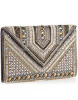 Designer Embroidered Purse Beaded Women Clutch Wedding Evening Party Handbag