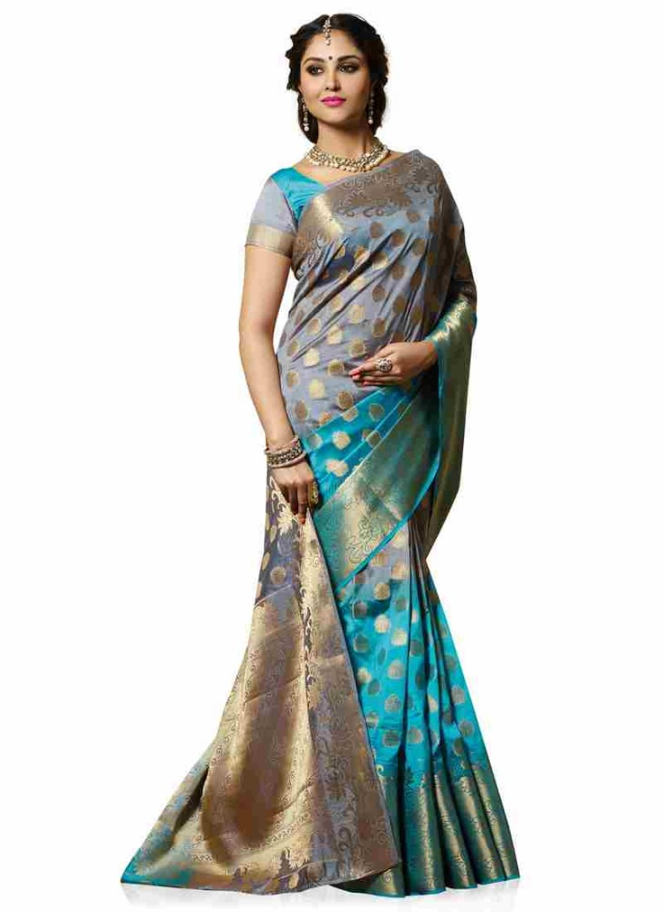 5b96b971f1 Meghdoot Woven Art Tussar Silk Saree/sari Grey And Turquoise Blue Colour  Wholesale - Buy Art Tussar Silk,Soft Silk Sarees,Traditional Silk Sarees  Product on ...