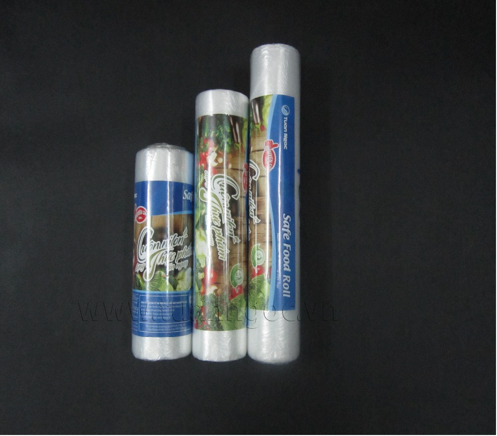 Safety for food plastic bag on roll with competitive price