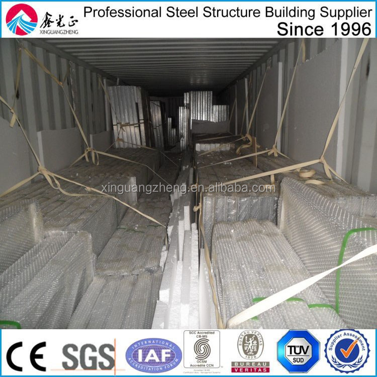 prefabricated steel structure 10 tons crane warehouse