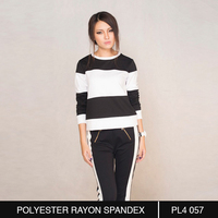 Black and White Bold Striped Sweater for Hip Ladies