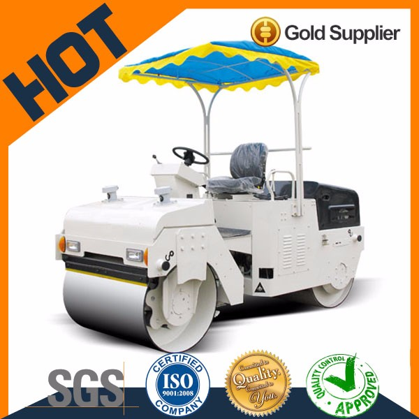 2018 Double drum vibratory SW3B mini road roller for sale