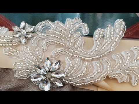 S31 Flower Crystal Bridal Sash Belts Wedding Belt Sashes for Wedding Dress