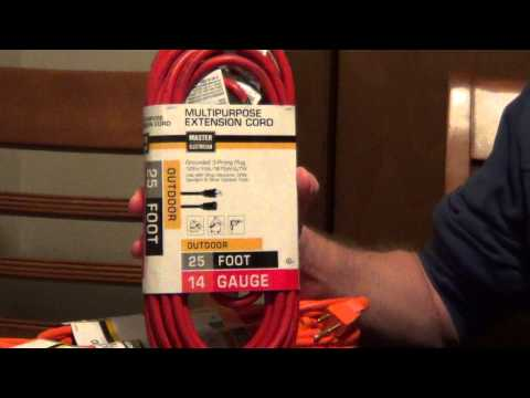 How to Pick an Extension Cord - Extension Cord Safety