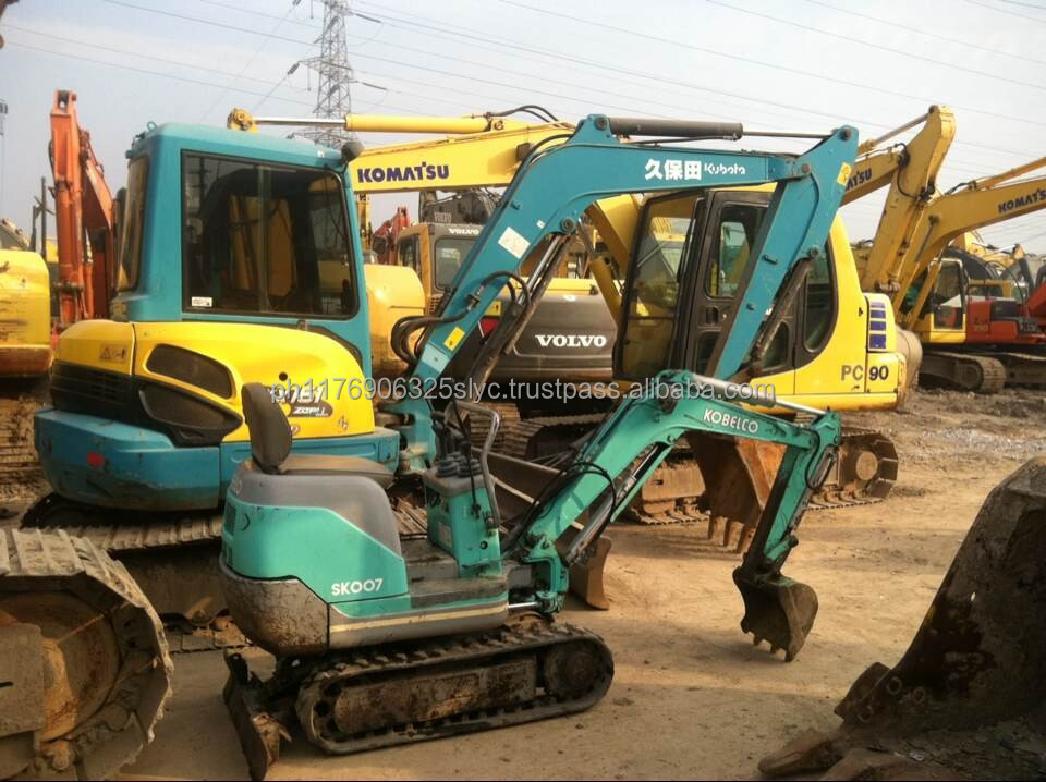 used construction machinery mini Kobelco Sk007 used excavator for sale