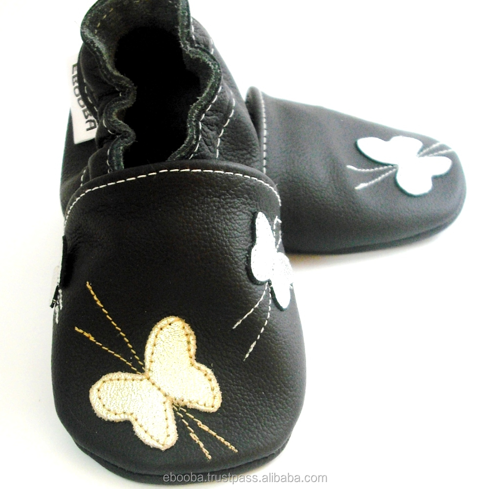 2ad6883c1ea soft sole baby shoes handmade infant gift silver butterfly