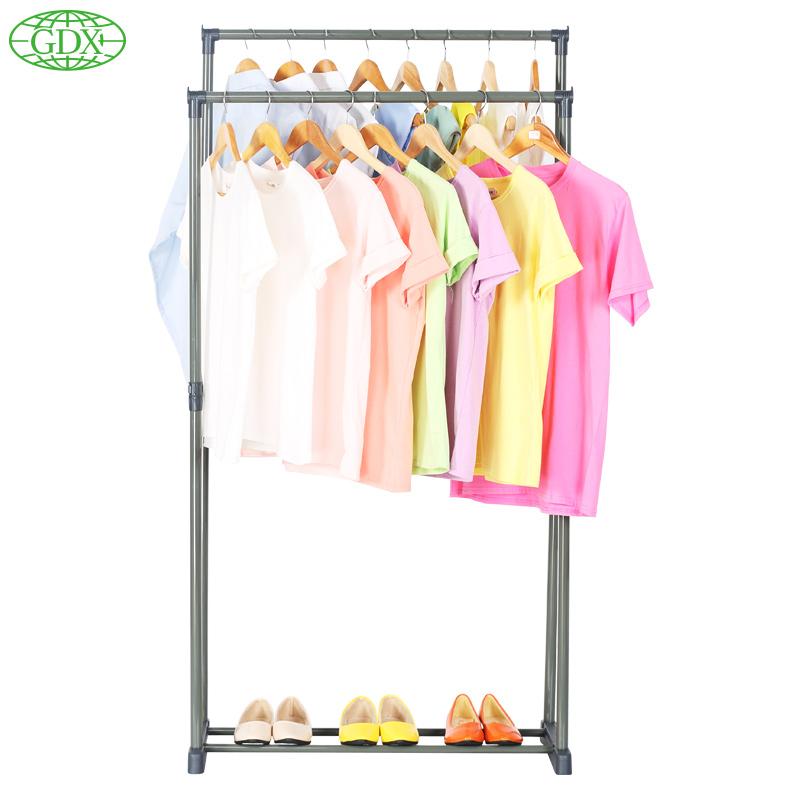 gdx home storage clothes hanger big load capacity garment rack clothes shelves organizer with. Black Bedroom Furniture Sets. Home Design Ideas