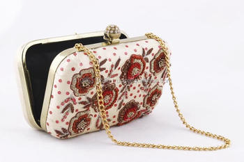 293e0ea29edd5 Embroidery Heavy Clutches Purse Bridal Handbag Wedding Evening Party Indian  Box Cross Body Clutch Luxury Beaded Diamond Beads - Buy Indian Box Clutch  ...