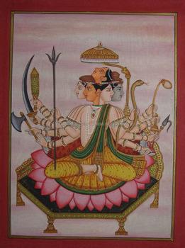Hindu God Sada Shiva Shankar Painting Artwork Vedic Yoga Indian Tantra Tantrik