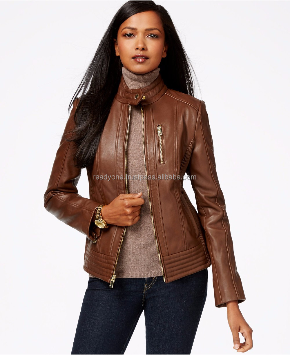 Womens Stylish Iconic Real Genuine Sheep Leather Jacket