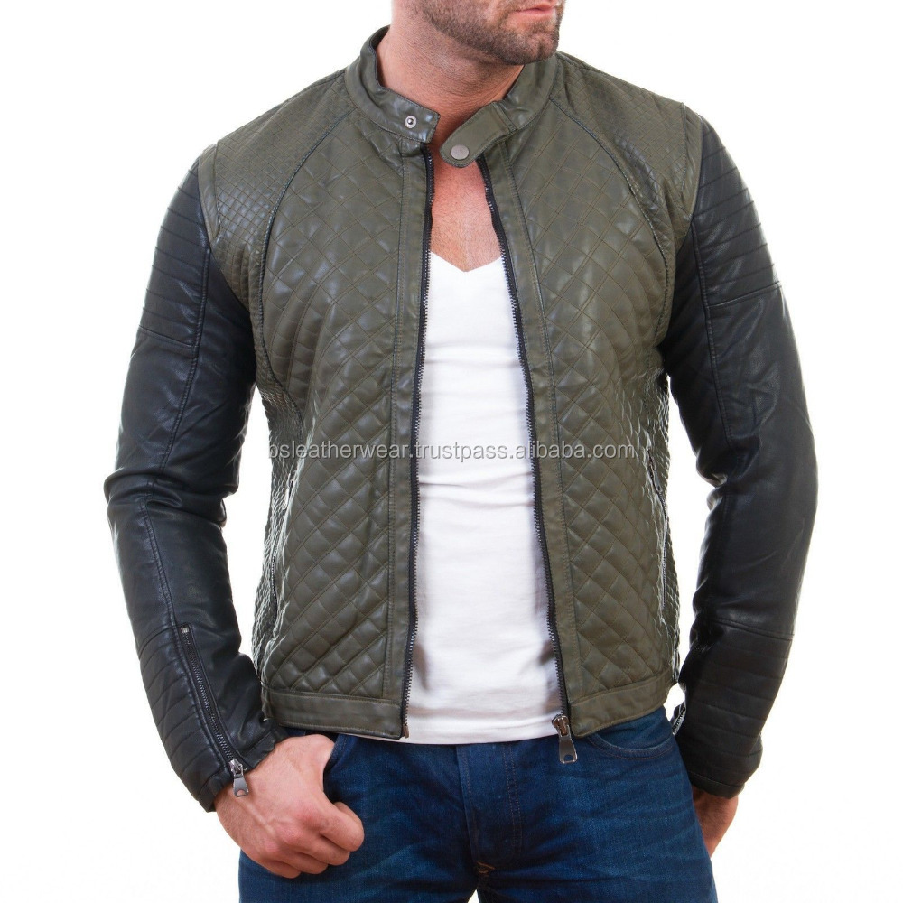 Green Leather Jacket Men, Green Leather Jacket Men Suppliers and ...