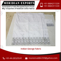 Classic Look Fine Finishing Indian George Fabric Available for Wholesale Buyers