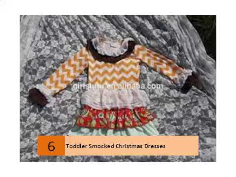 Toddler Smocked Christmas Dresses