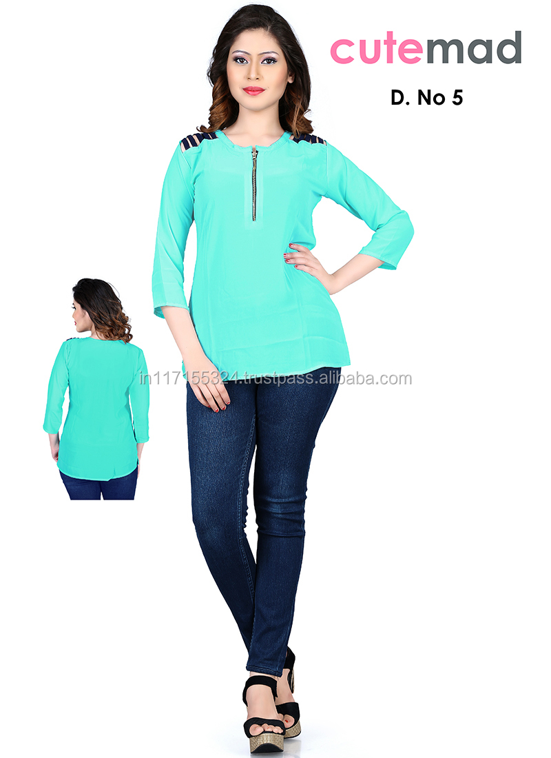 Latest Office Wear Tops Online Clothing Designer Fashion Fancy Kurti