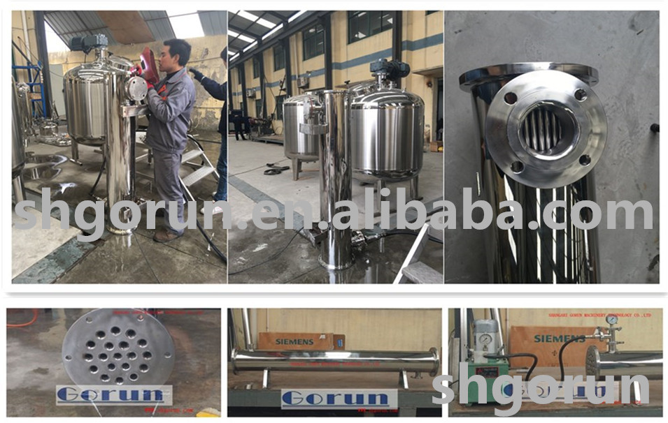 Shell and tube heat exchanger / tube shell heat exchanger/finned tube heat exchanger