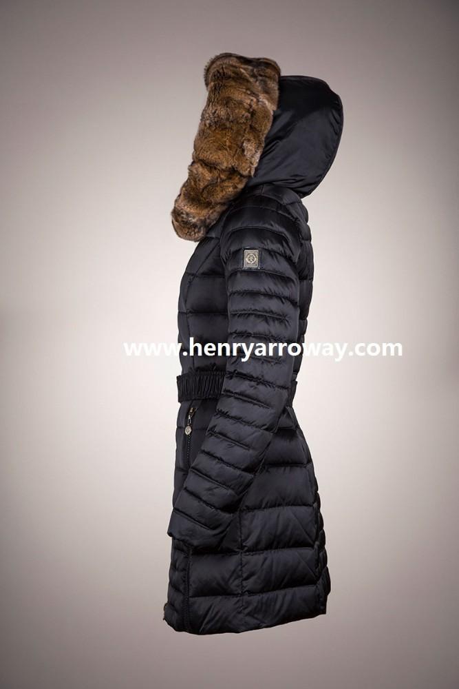 ea21e2d4a1f Abrigo de invierno largo para las señoras con plumas de llenado y orylag  Piel de Henry