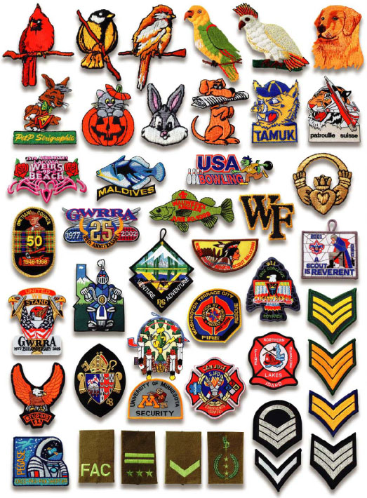 Embroidered brand logo custom embroidery patches sew on / iron for.