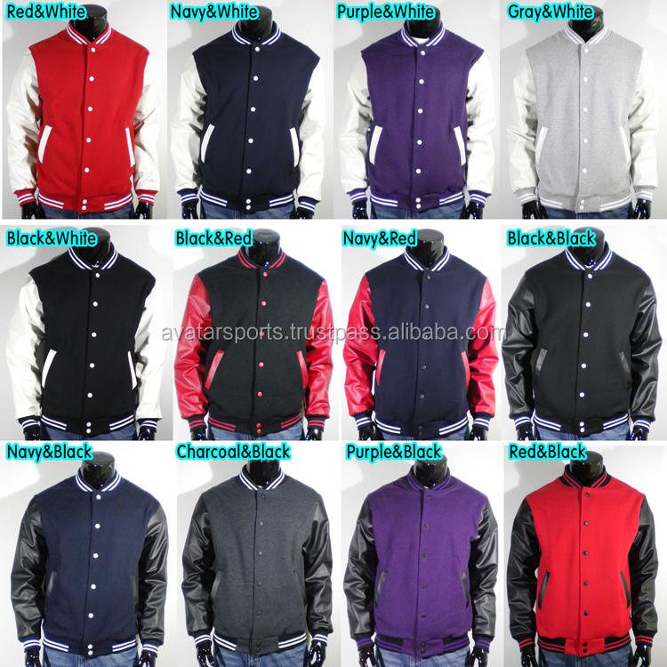 Plain Varsity Jacket Wholesale College Style / Wool Varsity ...