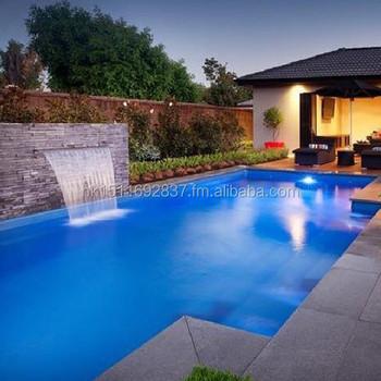 Swimming pool acrylic waterfall kit led strip waterfall - Swimming pool water fountain kits ...