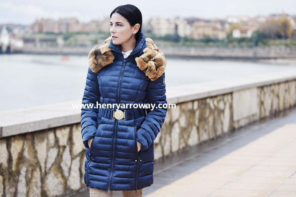ded598f7670 Abrigo largo de pluma para otoño invierno de invierno para mujeres con pelo  de orylag en