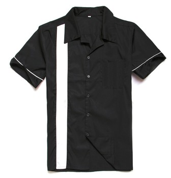 1950 S 1960 S Clothing Male Vintage Style Rock N Roll Black Cotton