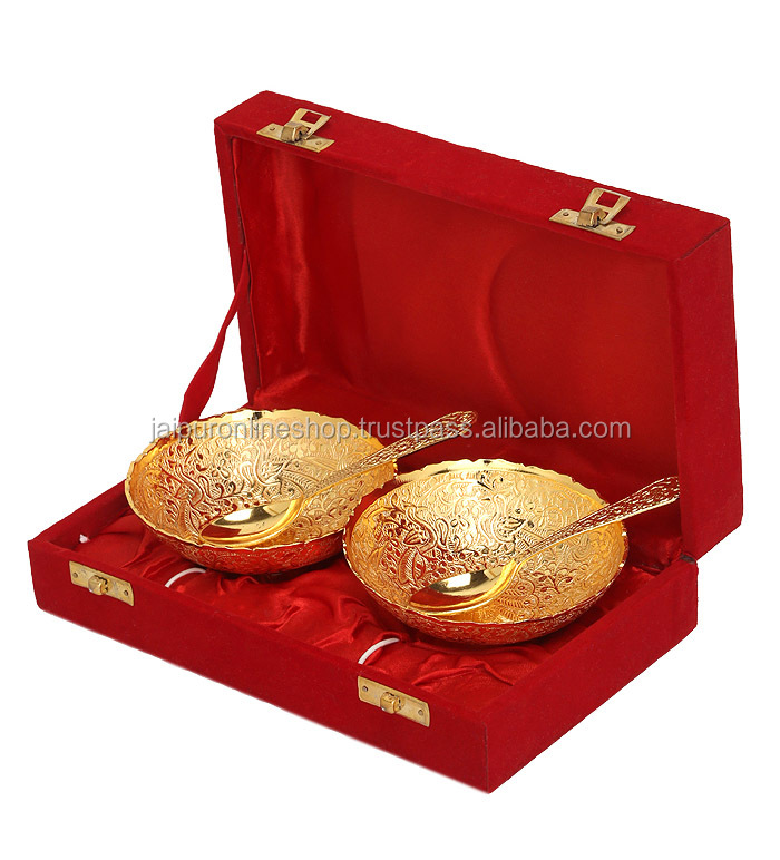 Navratri Gift Articles Gold Plated Dinnerware Set Indian Wedding Gifts Christmas Product On Alibaba