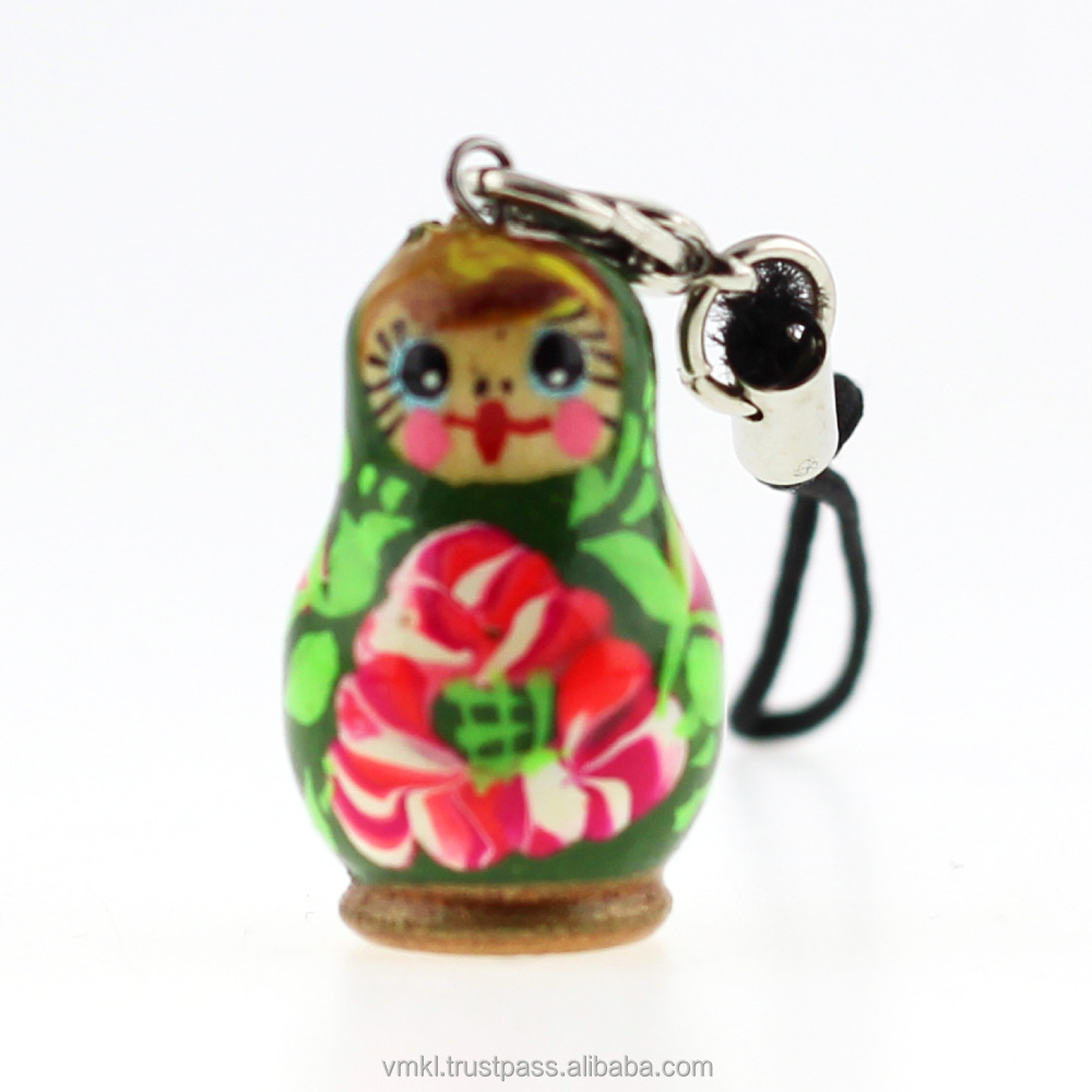 Matryoshka phone charm pendant, handmade phone strap, mix, AT