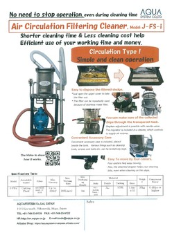 The Filer of Filtering Cleaner and Drum Pump