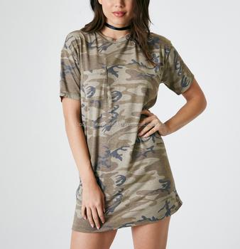 00f0825fc3a Soft Camo Print T-Shirt Women Girl Ladies Dress Cotton Embroider OEM ODM  Customized Print