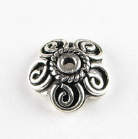 Sterling Silver Black Oxidize Bead Caps