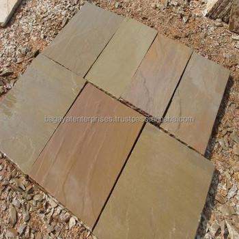 Raj Green Sandstone Paving Slabs