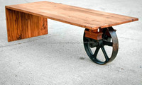 A Wheeled Industrial Coffee Table