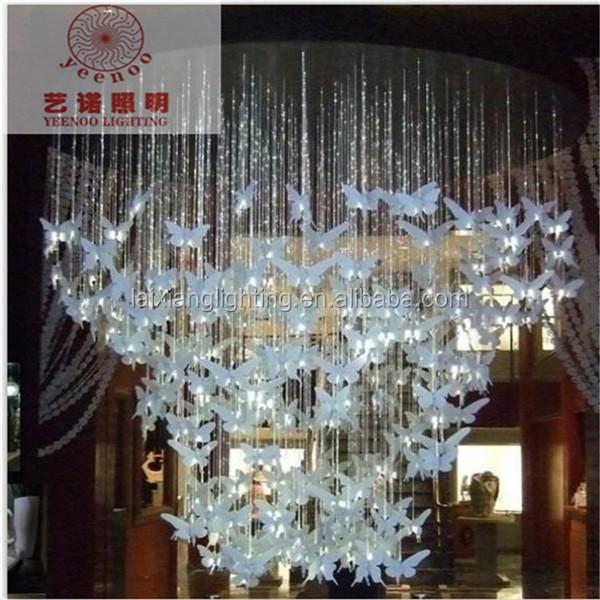 Fancy Chandeliers For Hotel Lobby,Decor Led Ceiling Light Fiber ...
