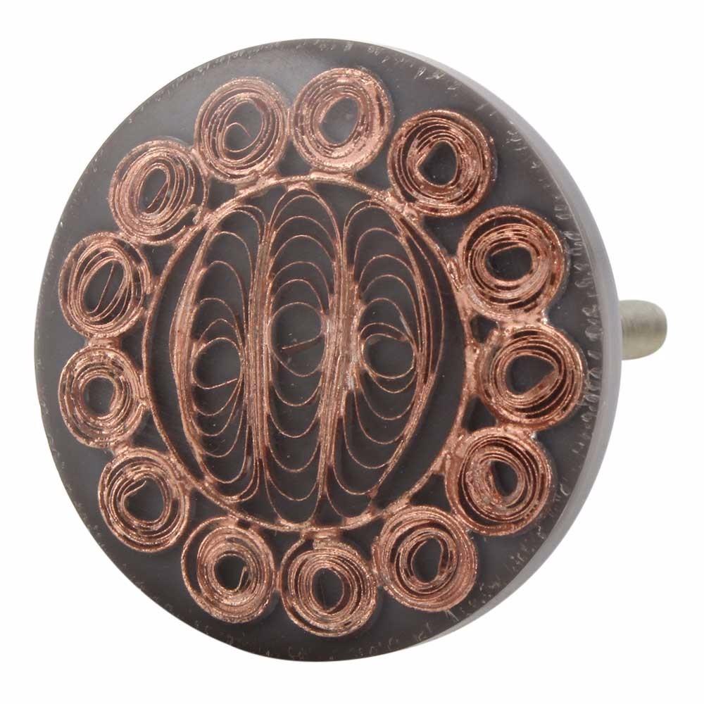 Metal And Copper Handmade Antique Color Resin Door Knobs Pulls Rak ...