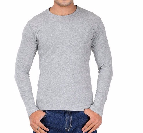 O Neck T Shirts-plain Cotton T-shirt Men's Apparel Brushed Cotton ...