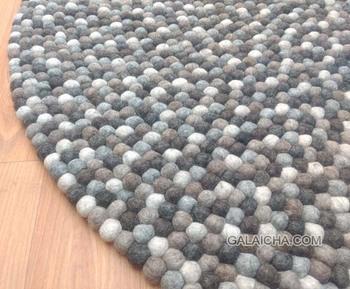 Felt Ball Rug Handmade Nepal Nursery