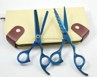 Blue Titanium coated Hair Scissor with Diamond