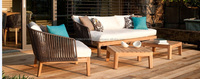 Best selling poly rattan sofa set with teak wood, high quality product, SGS tested