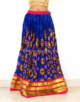 Wholesale Cotton Printed Skirts Party Wear Long Fashion Skirt Indian