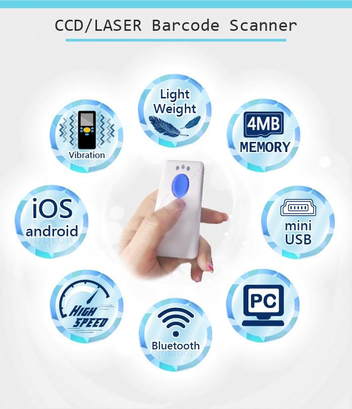 Pocket Bluetooth Barcode Scanner Ios Slave Spp - Buy Pocket Bluetooth  Barcode Scanner,Bluetooth Barcode Scanner Ios,Barcode Scanner Ios Product  on
