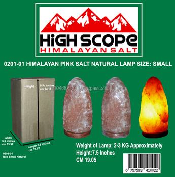 Himalayan Pink Salt Lamp Natural Shape With 6ft Cord,15 Watt Bulb 110 Or 220 Volts With Dimmer ...