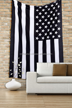 American Flag Wall Hanging american flag black & white wall tapestry indian 100% cotton wall