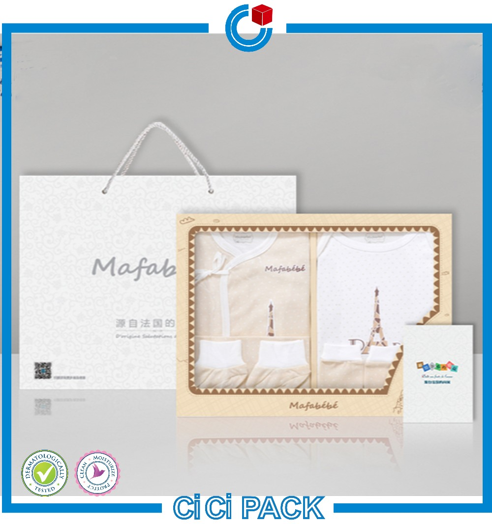 e8b4a911a High quality custom made baby clothes packaging box fancy design paper  packaging box wholesale