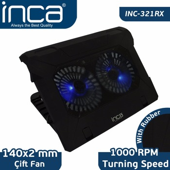 Inca Inc-321 Rx Ergonomic Double Fan+ Stand+ With Rubber Quiet ...