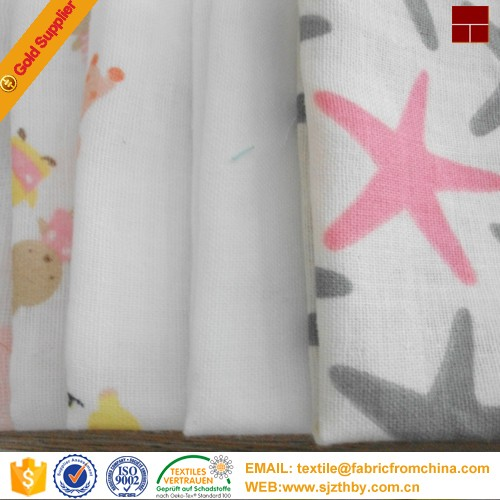 Wholesale double cloth 100 cotton printed muslin baby for Wholesale baby fabric